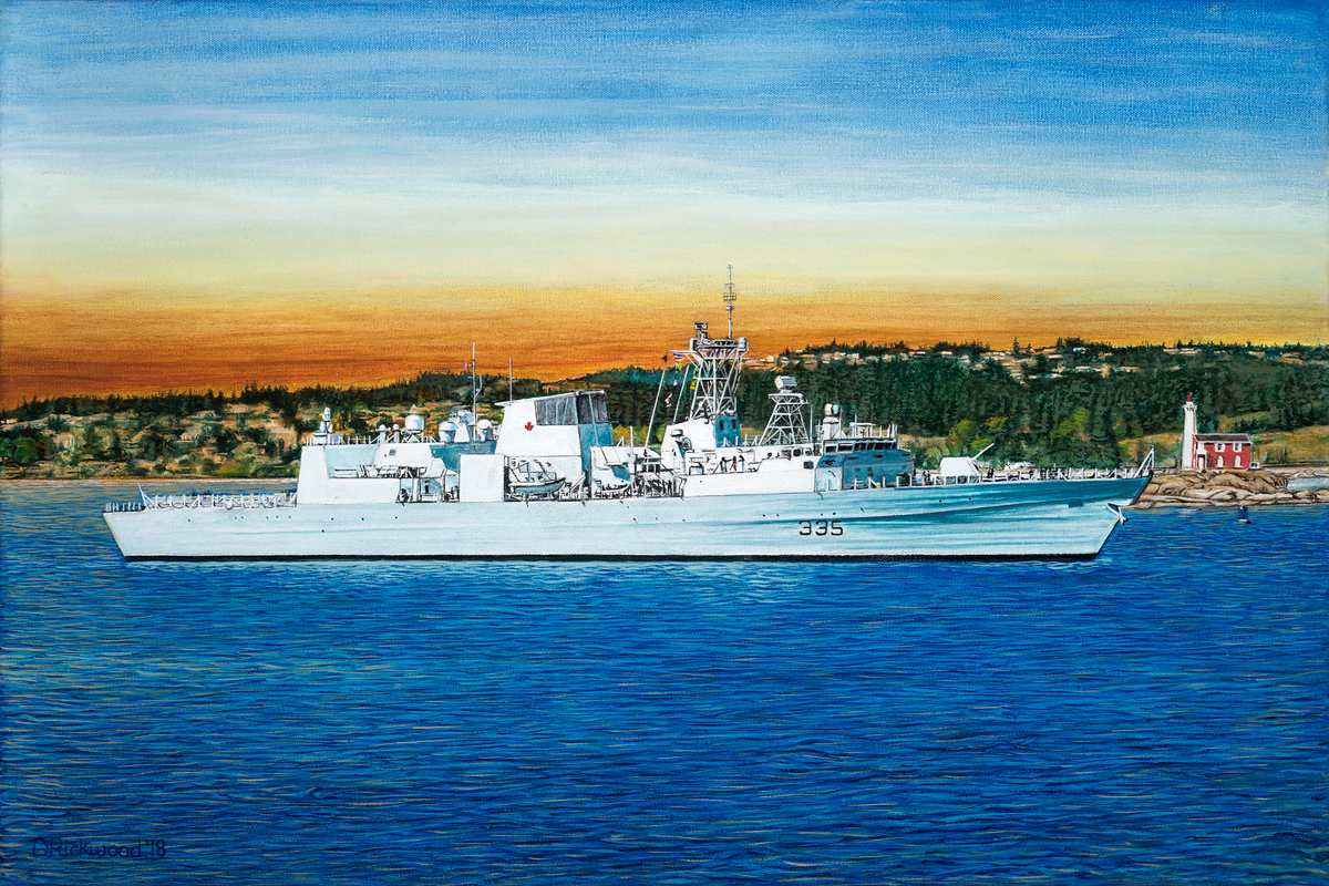 When Rickwood's painting of HMCS Calgary