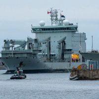 MV Asterix arrived back in Halifax Aug. 26 after more than 500 days away supporting the Royal Canadian Navy in various exercises and operations. Photo by Mona Ghiz, MARLANT PA