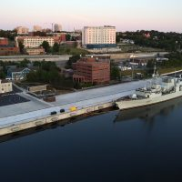 HMCS Ville de Quebec is seen tied up at the new Jetty NJ. Photo courtesy Formation Imaging Services