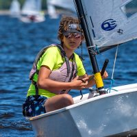 Heidi Maier, Canadian Forces Sailing Association (CFSA) Junior Sailor, competes during the Canadian Optimist Championship in Ottawa. Photo by Christian Bonin/TSGphoto.com