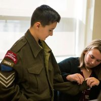 This authentic Second World War-era coat is just one example of the contents of the Canadian War Museum's Supply Line Second World War Discovery Box. The resource is being made available to schools at no charge and includes other artifacts from the era to enhance classroom instruction. Photos Provided by the Canadian War Museum.
