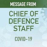Letter from Chief of the Defence Staff