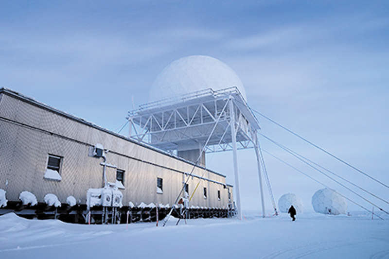 The CAM-Main North Warning System Site at Cambridge Bay, Nunavut, is being considered for the deployment of the hybrid microgrid system under the AMAZE project.