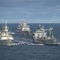 SNMG1 Conducts PASSEX training with German Navy