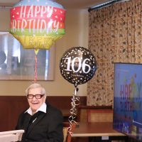 Veteran celebrates 106th birthday with a new-fashioned party