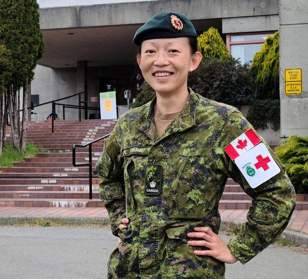 Major Lili Zhang is the new Base Surgeon taking over from Lieutenant Commander Ian Kirby. Photo by A/SLt Pellerin/PAO