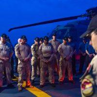 HMCS Calgary crew and air detachment remember Stalker 22