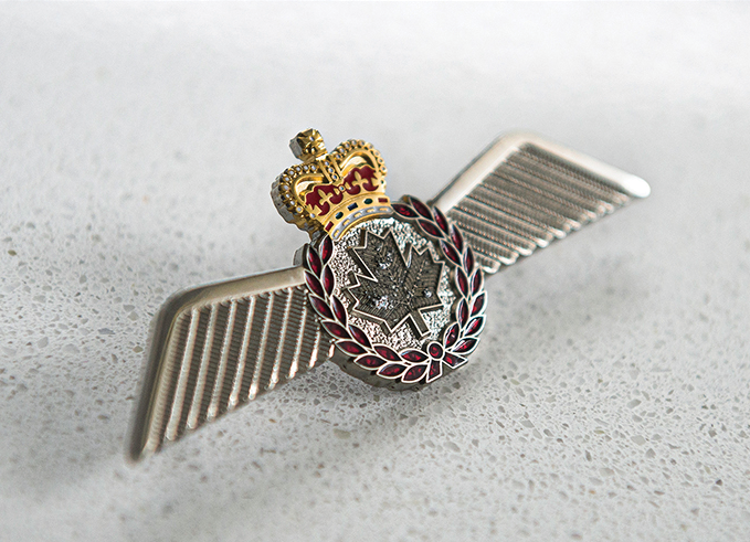 The new RCAF full-wing metal badge - pilot.
