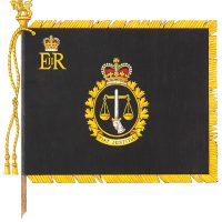 Her Majesty Queen Elizabeth presented a Royal Banner to the Canadian Armed Forces Legal Branch