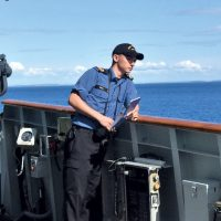 Two sailors aboard HMCS Winnipeg describe their experiences during Intermediate Multiship Readiness Training as a Bridge Watch Keeper under training.