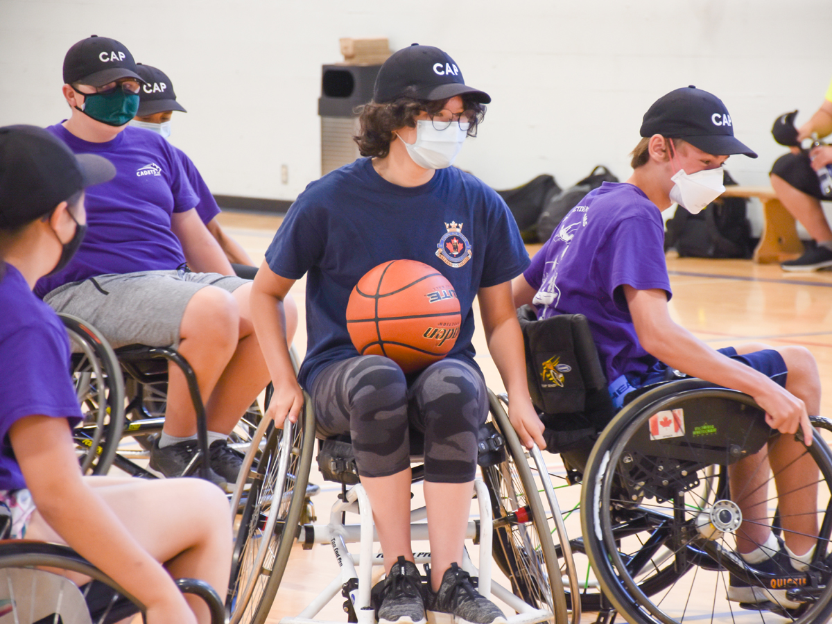 Cadets in Victoria learned about the challenges of injured Canadian Armed Forces members by participating in some Invictus Games paralympic sports. Photo by Capt Tim Townley