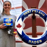 Vanessa Nicholson, a member of the Defence Women's Advisory Group, has started a collection drive for menstrual hygiene products.