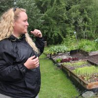 Jessica Miller, pictured, and her husband Steve Murgatroyd operate the Veteran Farm Project in Hants County, Nova Scotia.