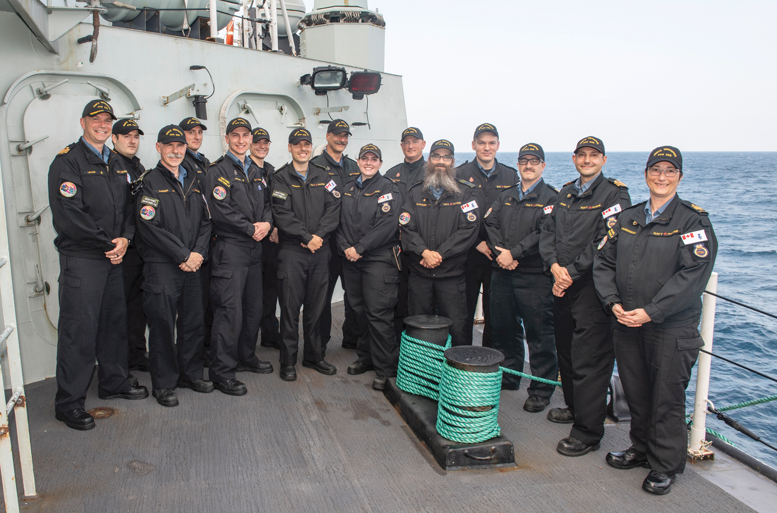 Sentinels aboard HMCS Winnipeg that received refresher training.
